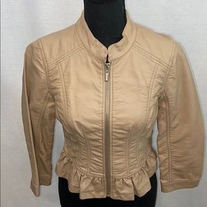 NWOT Guess Tan  Faux leather Jacket,
